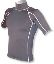 Men's Short Sleeve Polypro Rashguard - Black (B26)