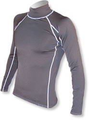 Men's Long Sleeve Polypro Rashguard - Black (B36)