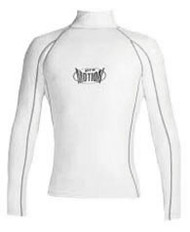 Men's Long Sleeve Lycra Rashguard - White (B14)