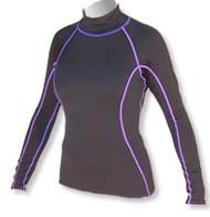 Women's Long Sleeve Polypro Rashguard - Black (B39)
