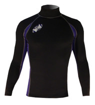 Men's Long Sleeve Lycra Rashguard - Black/Navy (G27)
