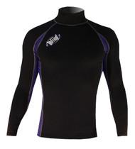 Men's Long Sleeve Lycra Rashguard - Black/Navy (G27)