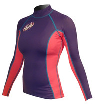 Women's Long Sleeve Lycra Rashguard - Navy/Pink (G32)