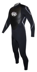 Men's 3/2mm Charger Flat Stitch Fullsuit - Black (G01)