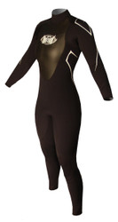 Women's 3/2mm Charger Flat Stitch Fullsuit - Black (G03)
