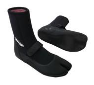 High Top Split Toe Boots - Black (J22)