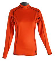 Women's Long Sleeve EXO Skin Stretch Top - Orange (J59)