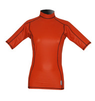 Women's Short Sleeve EXO Skin Stretch Top - Orange (J64)