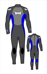 Kid's 4/3mm Fullsuit - Blue (J90)