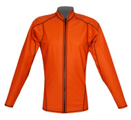 Men's L/S EXO Skin Stretch Top w/Zipper - Orange (K62)