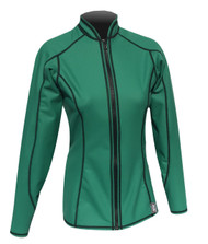 Women's L/S EXO Skin Stretch Top w/Zipper - Green (K67)