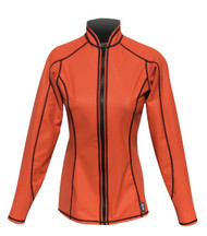 Women's L/S EXO Skin Stretch Top w/Zipper - Orange (K66)