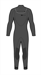 Men's 5/4/3 Peak Fullsuit - Jet Black (M56)