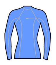 Women's Long Sleeve Surf Tee - Blue (M45)
