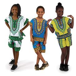 Child Traditional Dashiki & Shorts (Unisex)