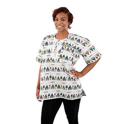 Village African Dashiki (Unisex) White