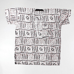 Mud Print African Dashiki (Unisex) White
