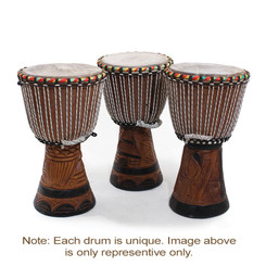 "DJembe Drum Medium 18"" H / 10"" D"