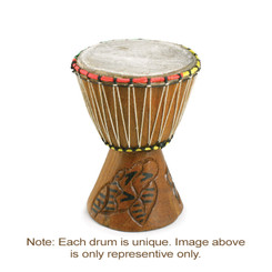 "Djembe Drum X-Small 8"" H / 4"" D"