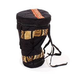 Mud Cloth & Canvas D'jembe Drum Bag LG