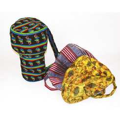 Djembe Drum Bag LG - African Print Fabric