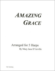 Amazing Grace (for 5 harps) by Mary Jane D'Arville