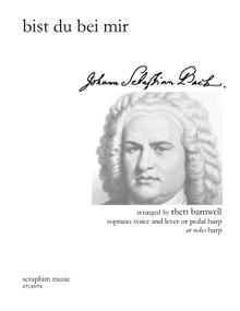 Bist Du Bei Mir (High Voice and Harp)-J. S. Bach, arr. Rhett Barnwell