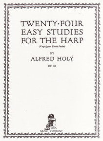 Twenty-Four Easy Studies for the Harp by Alfred Holy