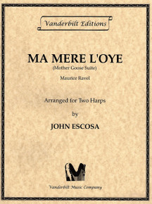 Ma Mere l'Oye for two harps (Mother Goose Suite) by Ravel / Escosa