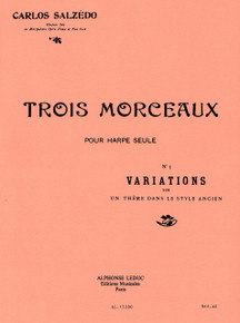 Trois Morceaux-No. 3, Variations on a Theme in Ancient Style by Carlos Salzedo