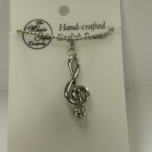 Necklace- Treble Clef (Pewter)