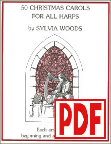 PDF 50 Christmas Carols for All Harps by Sylvia Woods