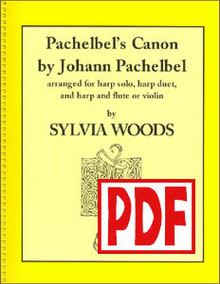 PDF Pachelbel's Canon arr. by Sylvia Woods