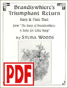 PDF Brandswhiere's Triumphant Return for flute and harp by Sylvia Woods