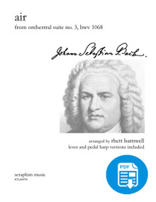 Air from Suite No. 3, J. S. Bach, arr. Rhett Barnwell, PDF version