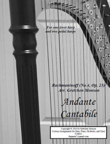 Andante Cantabile for Pedal and lever harps by Gretchen Monson - PDF Download