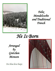 He is Born for lever harp by Gretchen Monson - PDF Download