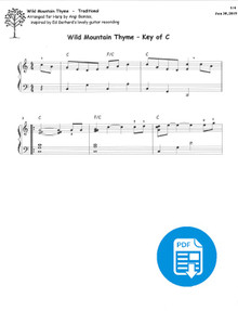Wild Mountain Thyme arr. by Angi Bemiss - PDF Download