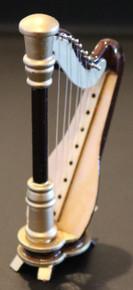 Wooden Harp Magnet