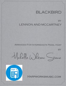 Blackbird (Intermediate pedal) by Lennon & McCartney / Michelle Whitson Stone - PDF Download