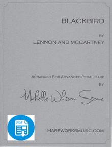 Blackbird (Advanced pedal) by Lennon & McCartney / Michelle Whitson Stone - PDF Download
