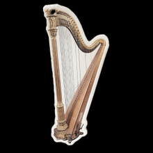 Acrylic Harp Ornament