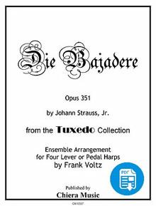 Die Bajadere for Harp Ensemble by Frank Voltz - PDF Download