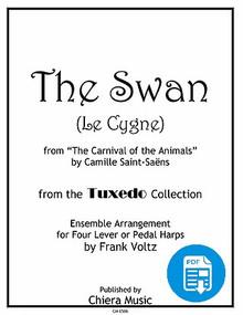 The Swan for Harp Ensemble by Frank Voltz - PDF Download