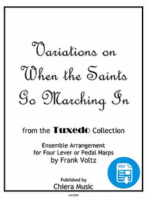 Variations on When the Saints Go Marching In for Harp Ensemble by Frank Voltz - PDF Download