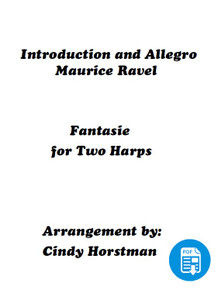 Ravel's Introduction and Allegro for 2 Harps arr. by Cindy Horstman PDF Download
