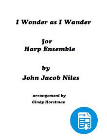 I Wonder as I Wander for 3 Harps arr. by Cindy Horstman PDF Download