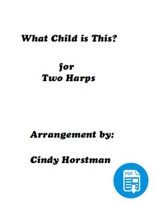 What Child is This for 2 Harps (Harp Part 1) arr. by Cindy Horstman PDF Download