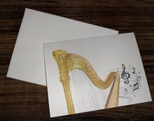 Harp Notecards from Flourish & Dot