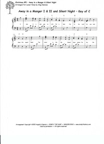 Christmas #3: Away in a Manger and Silent Night arr. by Angi Bemiss